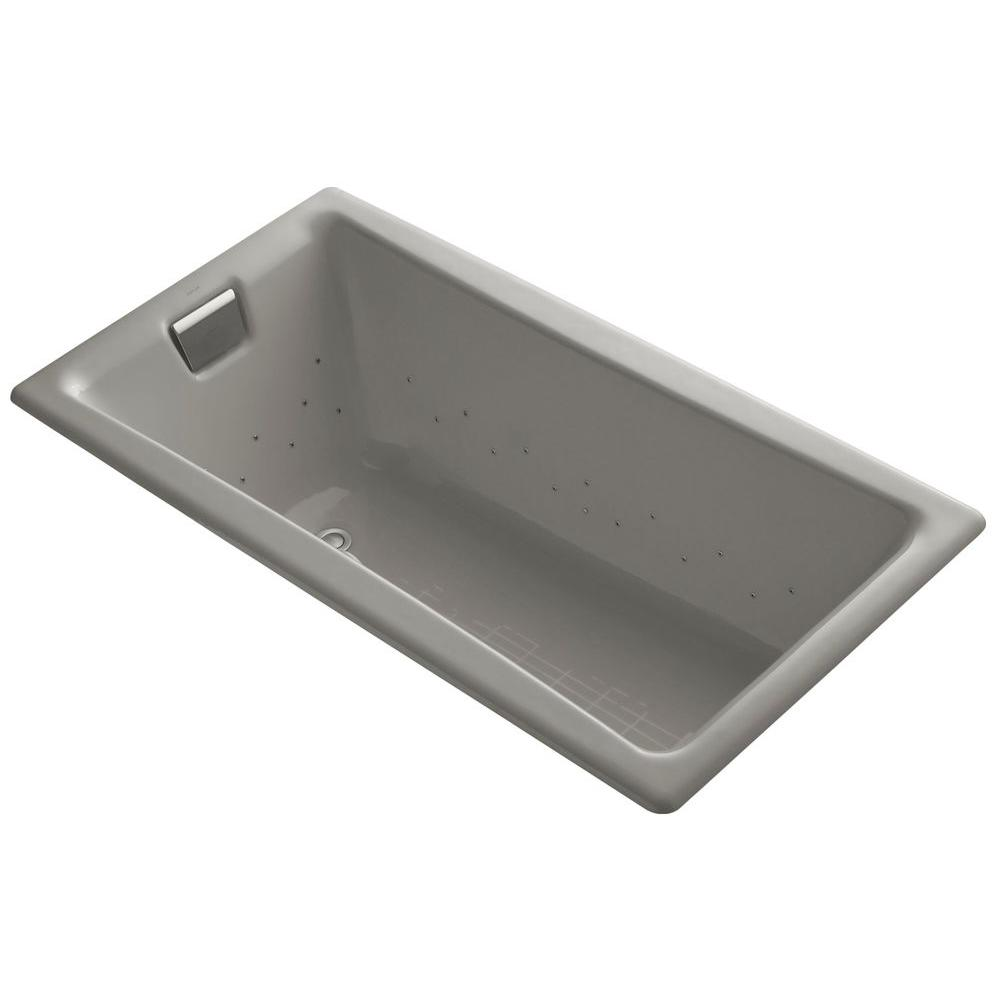 Tea-for-Two 5 ft. Air Bath Tub in Cashmere