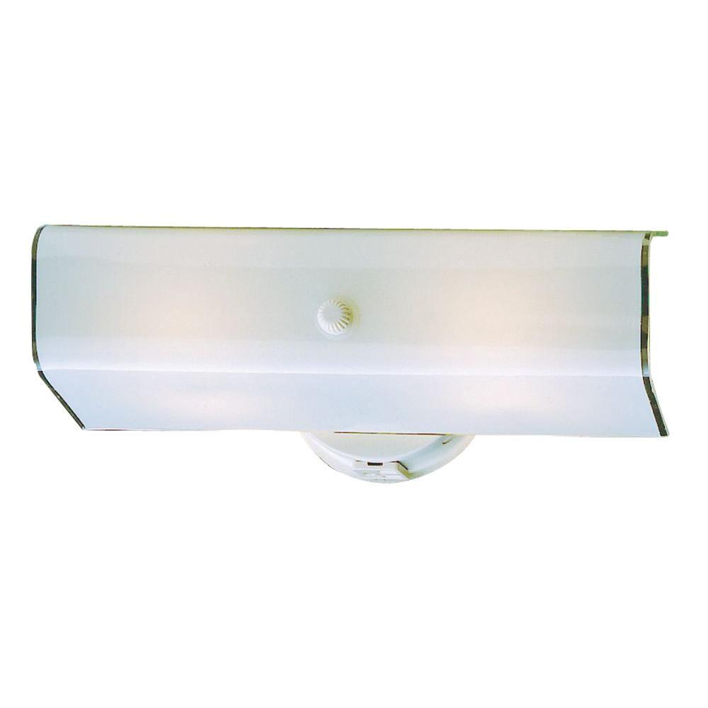 Thomas Lighting 2-Light White Wall Vanity-DISCONTINUED