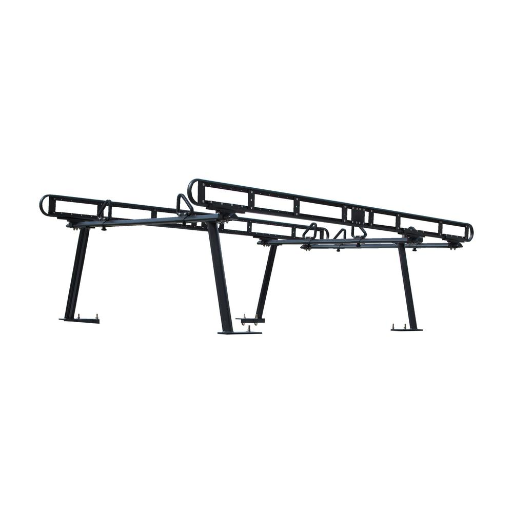 Buyers Products Company 800 lbs. Capacity Black Powder-Coated Aluminum Truck Ladder Rack