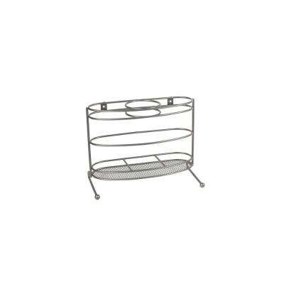 MyBella 10.5 in. W Styling Station in Satin Nickel Powder Coat