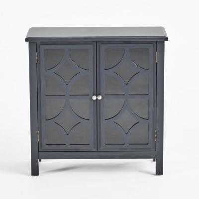 Melora Charcoal Gray Fir Wood Accent Cabinet