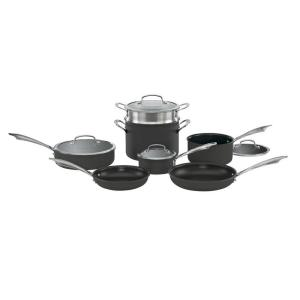Cuisinart 11-Piece Black Cookware Set with Lids by Cuisinart