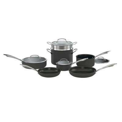 11-Piece Black Cookware Set with Lids