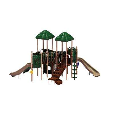 UPlay Today Pike's Peak (Natural) Commercial Playset with Ground Spike