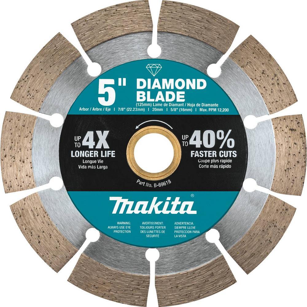 5 in. Segmented Rim Diamond Blade for General Purpose