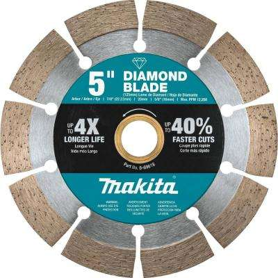 5 in. Segmented Rim Diamond Blade for General Purpose