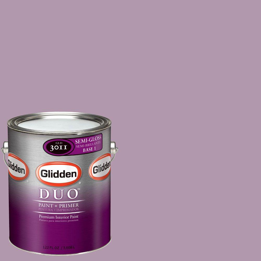 Glidden DUO Martha Stewart Living 1-gal. #MSL187-01S Violet Aster Semi-Gloss Interior Paint with Primer - DISCONTINUED