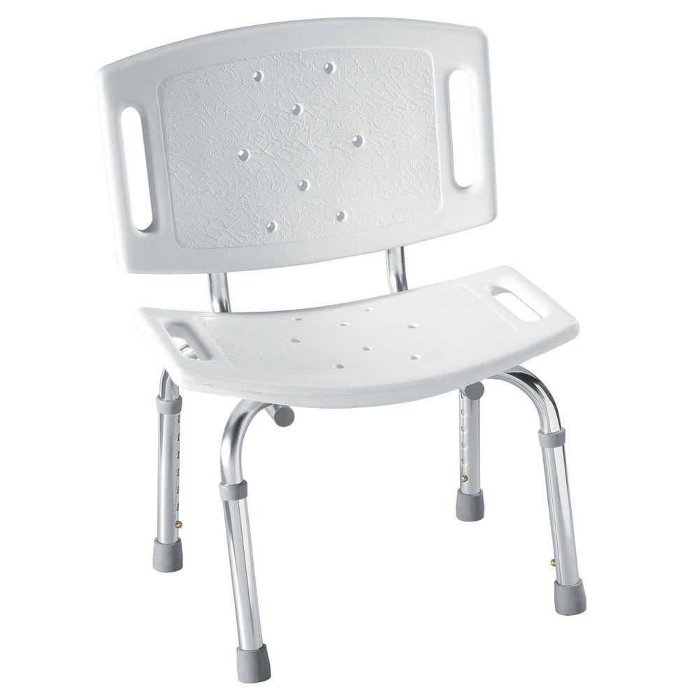 MOEN Adjustable Shower Chair in White-DN7030 - The Home Depot