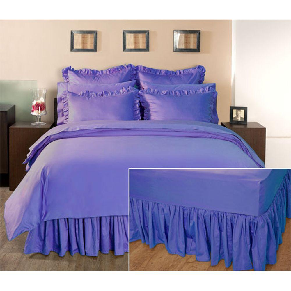Home Decorators Collection Ruffled Lapis Lazuli Twin Bedskirt