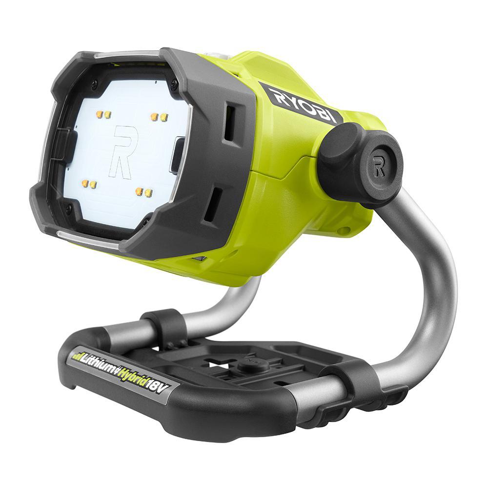 RYOBI 18-Volt ONE+ Hybrid LED Color Range Work Light (Tool Only)