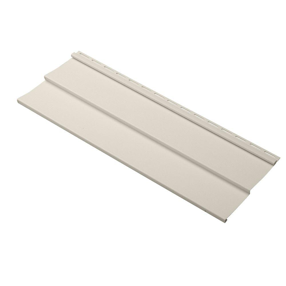 Cellwood Dimensions Double 4 in. x 24 in. Vinyl Siding Sample in Almond
