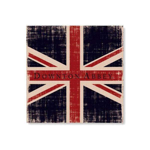 Heritage Lace 14.5 in. Downton Abbey British Union Jack Natural Beige