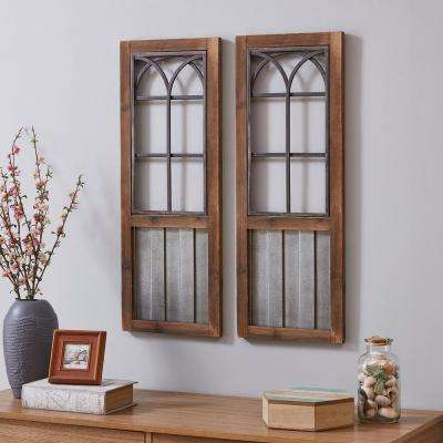 31.5 in. x 12 in. Wooden Willow Farms Window Wall Plaque Set