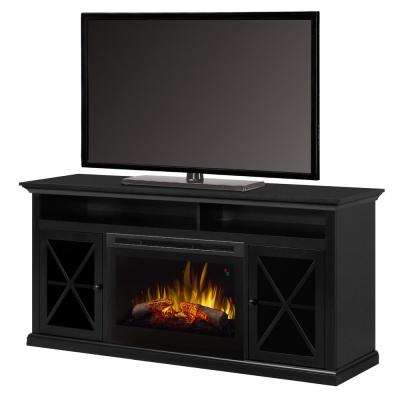 Newman 62 in. Freestanding Electric Fireplace TV Stand Media Console in Dark Roast