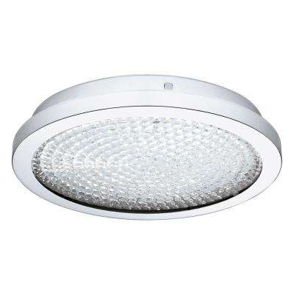 Arezzo 100-Watt Chrome Integrated LED Semi-Flushmount