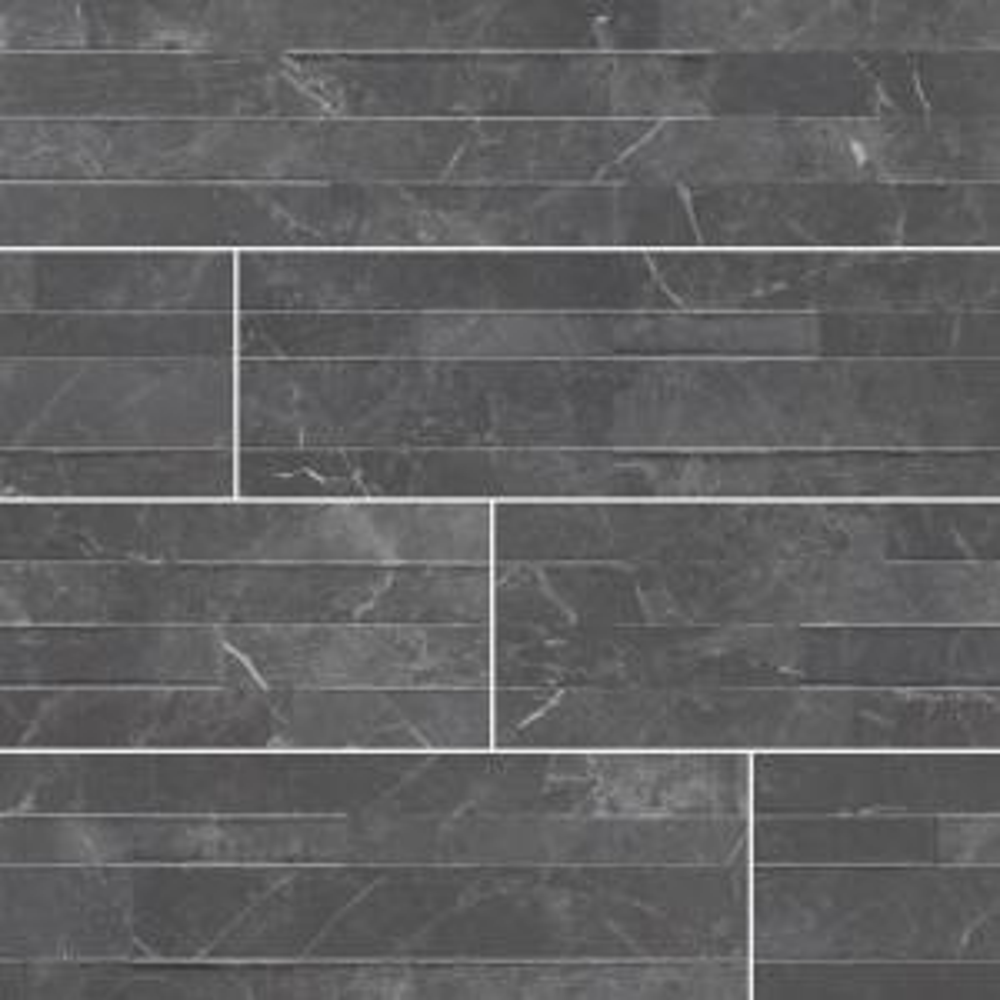 Midnight Mount Ledger Panel 6 in. x 24 in. Matte Porcelain Wall Tile (11 sq. ft. / case)