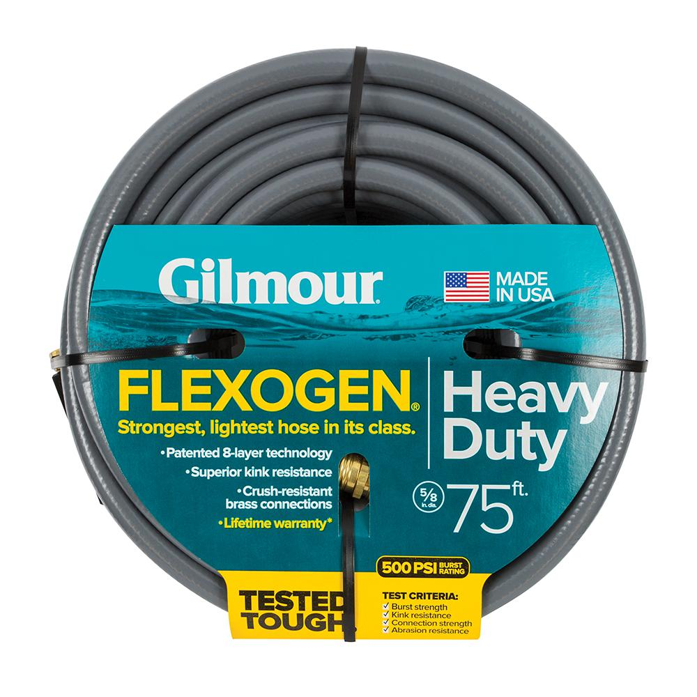 Flexogen 5/8 in. Dia x 75 ft. Gray Reinforced Garden Hose