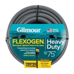 Gilmour Flexogen 5/8 inch Dia x 75 ft. Gray Reinforced Garden Hose by Gilmour