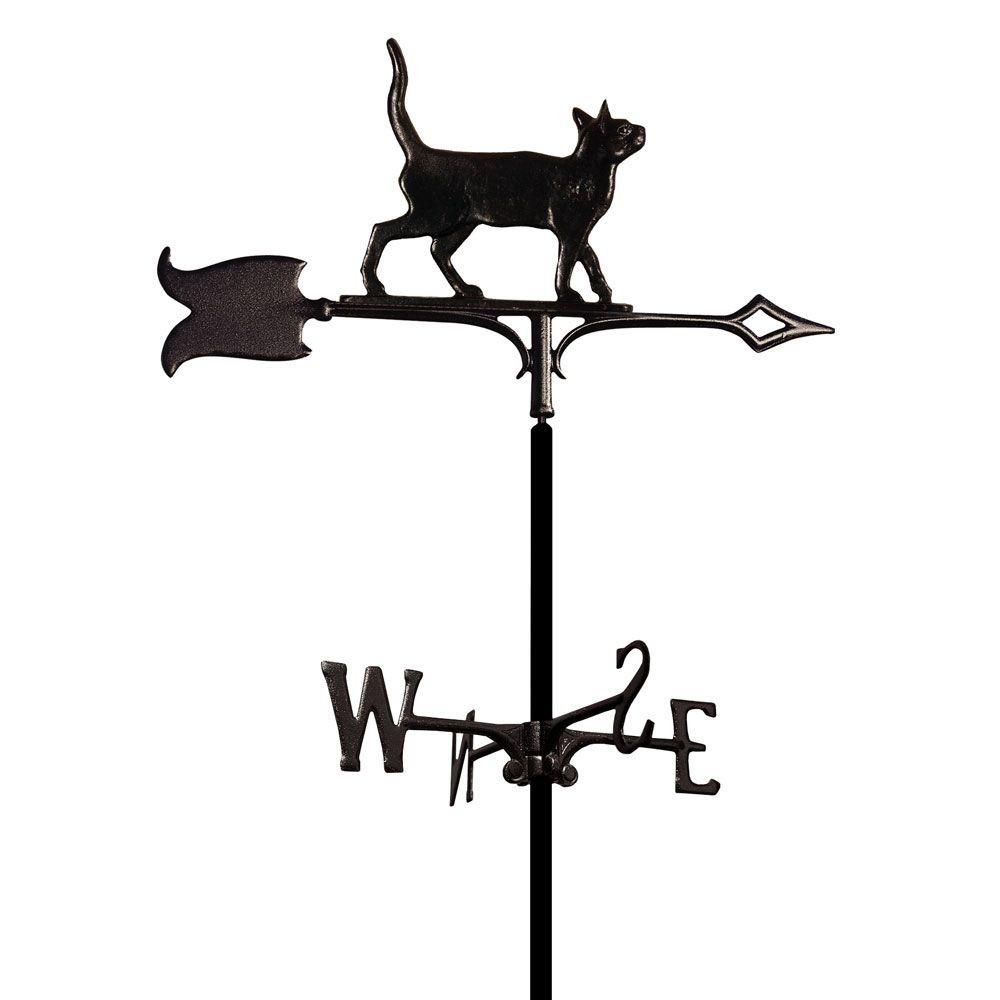 Whitehall Products Black Garden Standing Tiger Cat