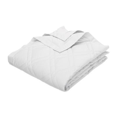 Classic Down White Cotton Twin Quilted Blanket