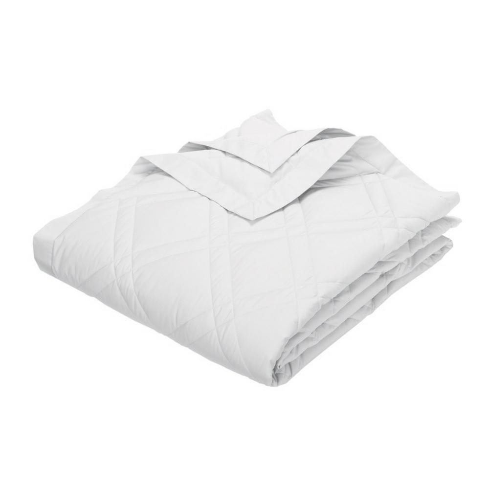 TheCompanyStore The Company Store Classic White Percale Queen Quilted Blanket