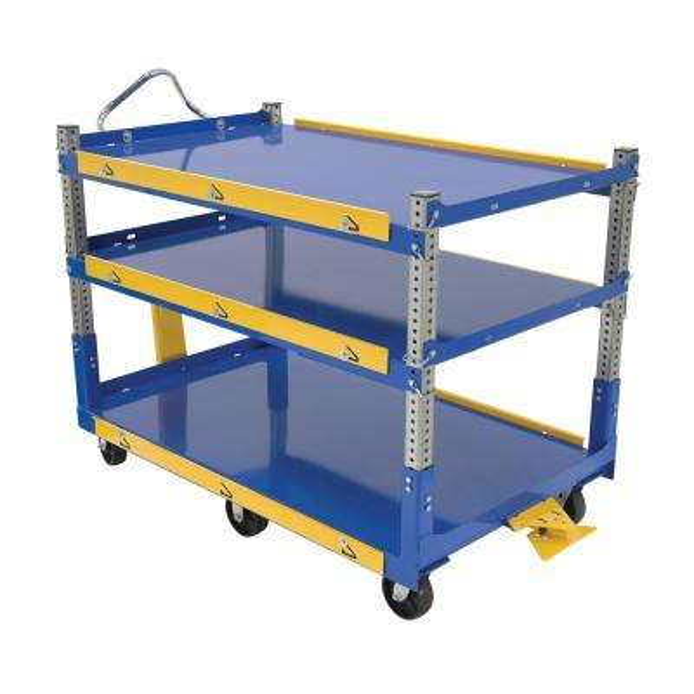 Adjustable Ergo Cart with Glass Filled Nylon Wheels