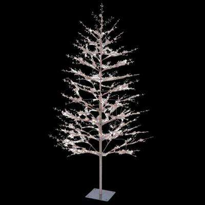 5 ft. Brown Winter Berry Branch Tree with C4 Color Choice LED Lights