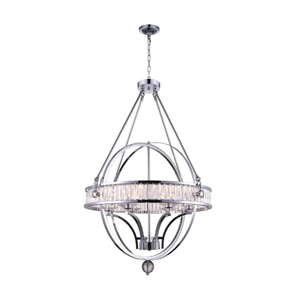 Arkansas 6-Light Chrome Chandelier