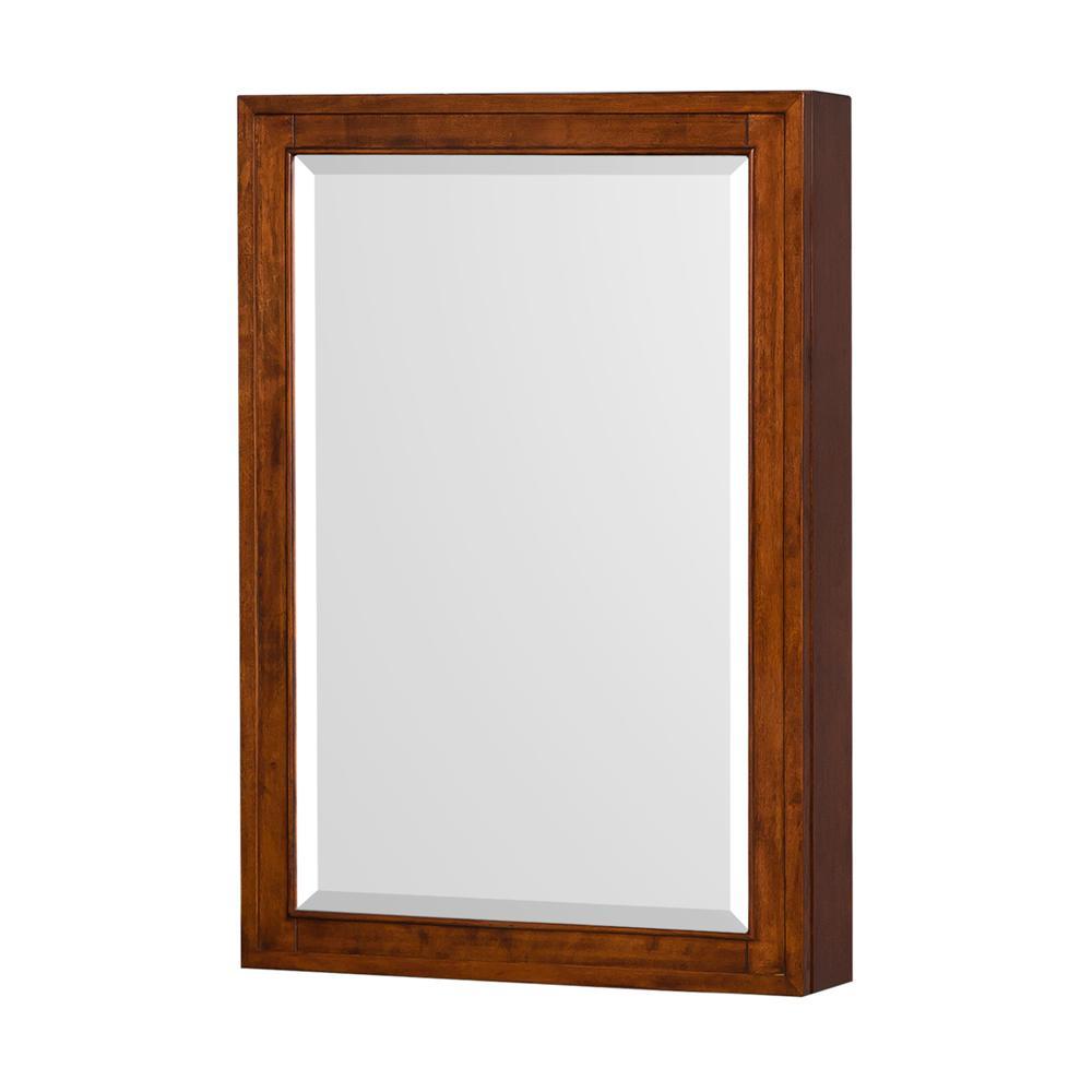 Hatton 24 in. W x 36 in. H Framed Wall Mirror in Light Chestnut