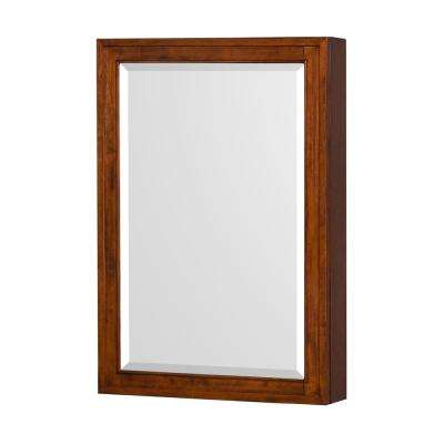 Hatton 24 in. W x 36 in. H Framed Wall Mirror in Light Chestnut