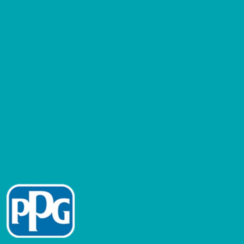 PPG TIMELESS 8 oz. #HDPPGB27D Kingfisher Blue Flat Interior/Exterior Paint Sample