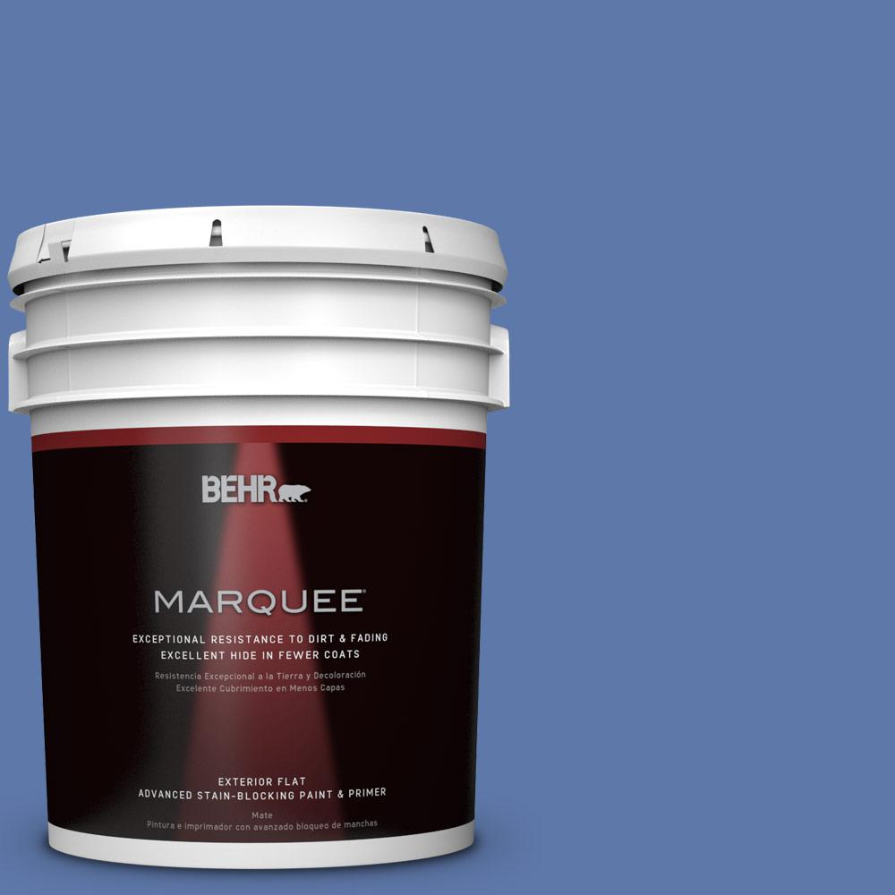 Home Decorators Collection 5-gal. #HDC-FL13-6 Baltic Blue Flat Exterior Paint