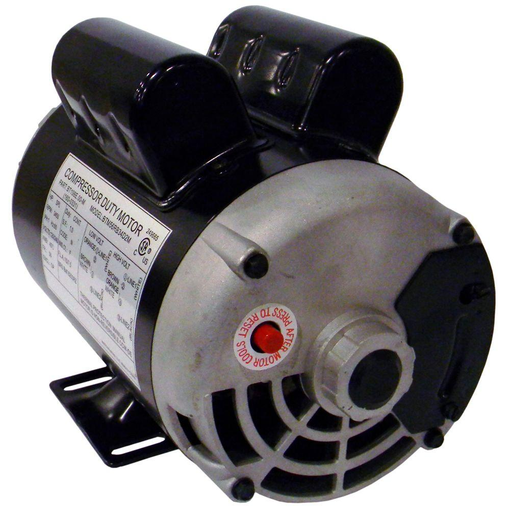 115 volt 1 9 rhp electric air compressor motor 160 0264 for Air compressor motor starter