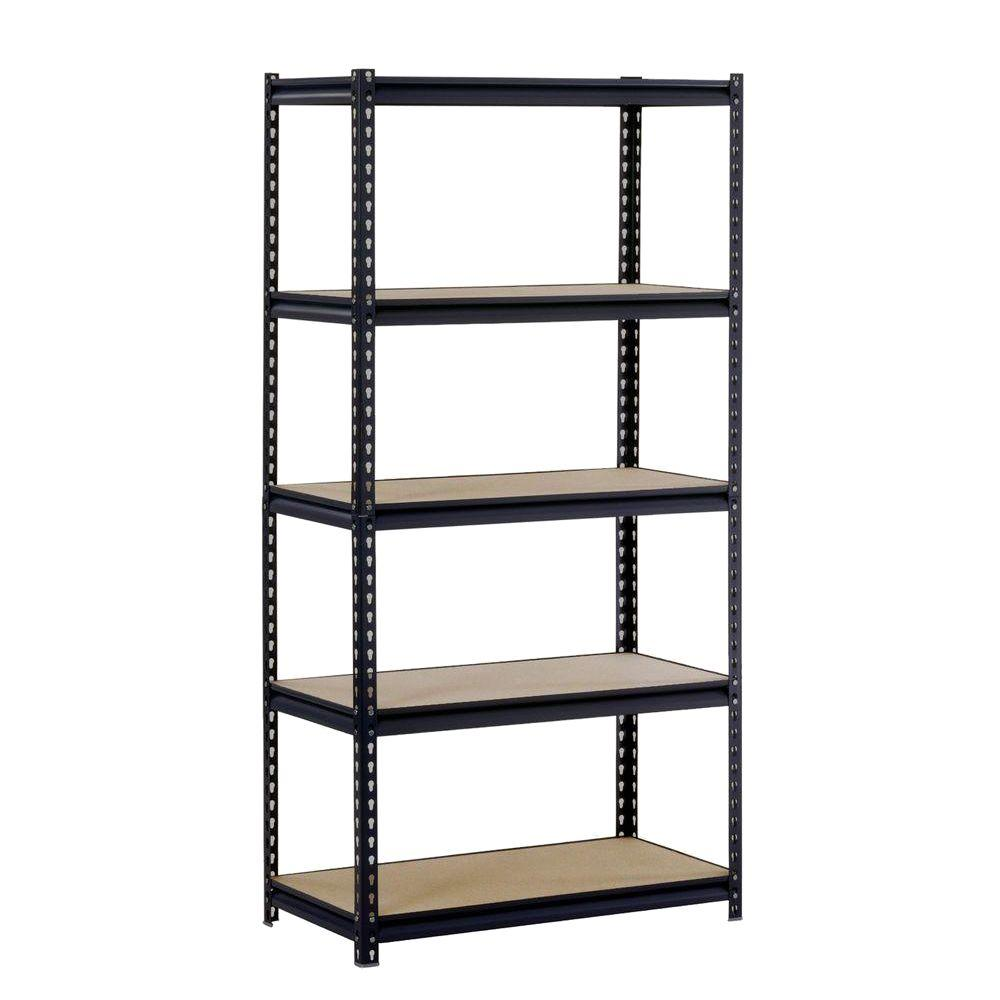 d 5shelf steel commercial shelving unit in the home depot