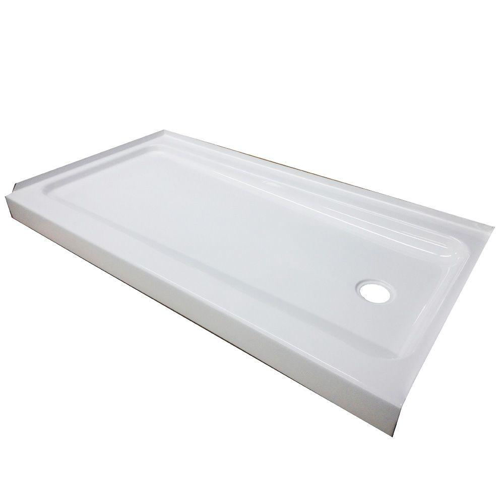ShowerCast Plus 60 in. x 32 in. Single Threshold Shower Pan