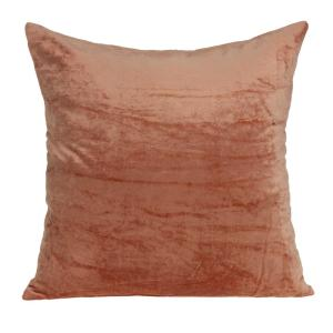 Jordan Transitional Orange Solid Pillow Cover with Poly Insert