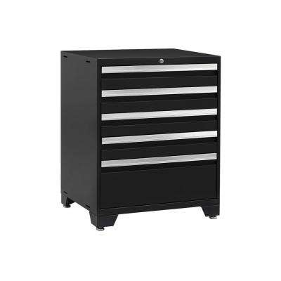 Pro 3.0 37 in. H x 28 in. W x 22 in. D 18-Gauge Welded Steel Freestanding 5-Drawer Tool Cabinet Set in Black