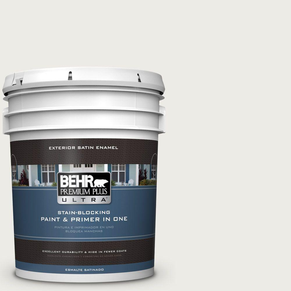 BEHR Premium Plus Ultra 5-gal. #BWC-20 Melting Icicles Satin Enamel Exterior Paint