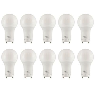 60-Watt Equivalent A19 ENERGY STAR and Dimmable LED Light Bulb in Soft White 3000K (10-Pack)