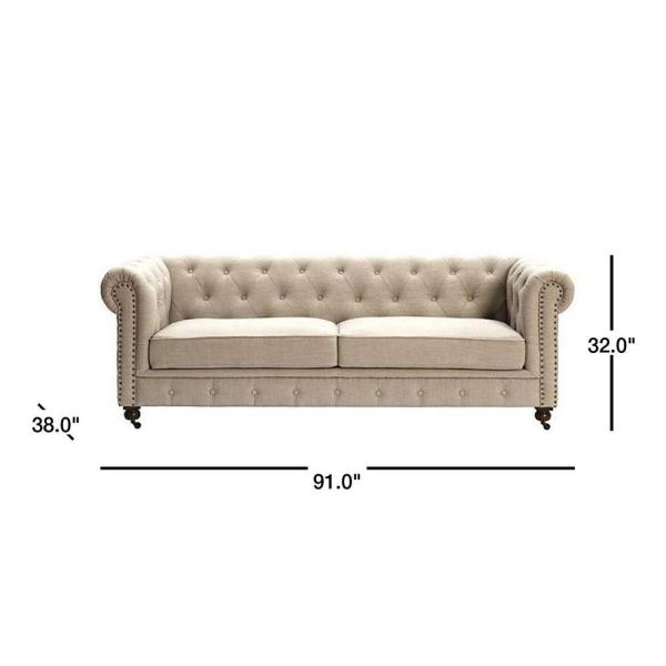 Gordon Natural Linen Sofa