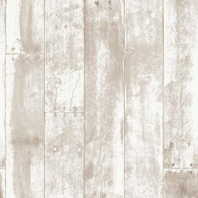 Brown Reclaimed Wood Repeel Removable Wallpaper