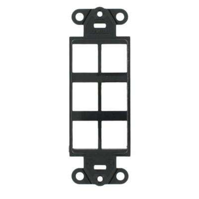 1-Gang Decora QuickPort 6-Port Insert in Black