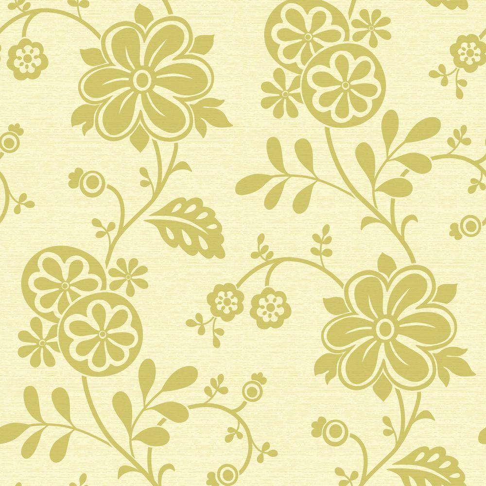 Beacon House Amelie Green Modern Floral Trail Wallpaper Sample