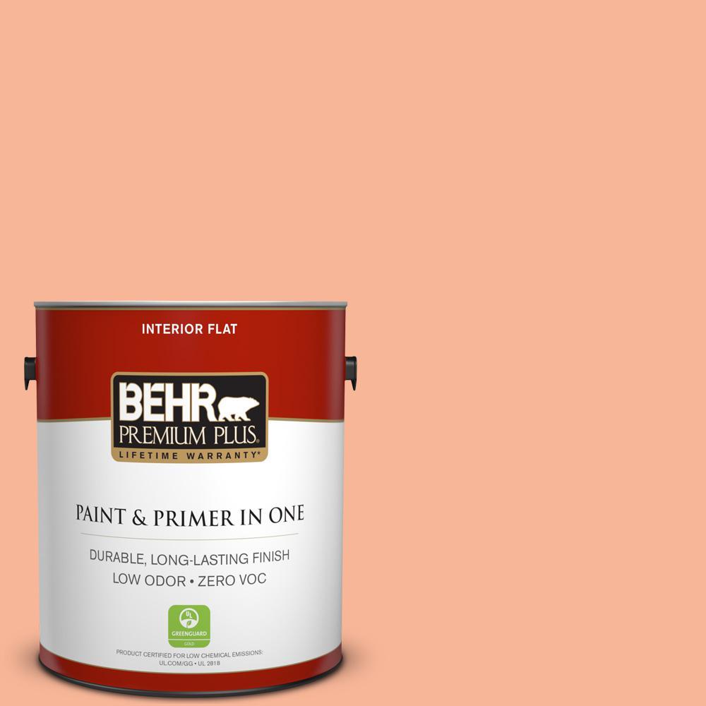 BEHR Premium Plus 1-gal. #P190-3 Melon Sorbet Flat Interior Paint