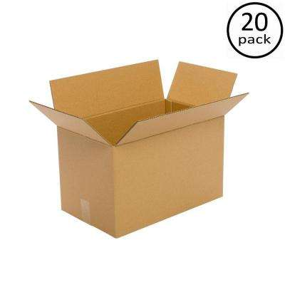 20 in. L x 14 in. W x 12 in. D Moving Box (20-Pack)