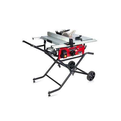 15 Amp 10 in. Commercial Bench-Top Table Saw with Portable Stand