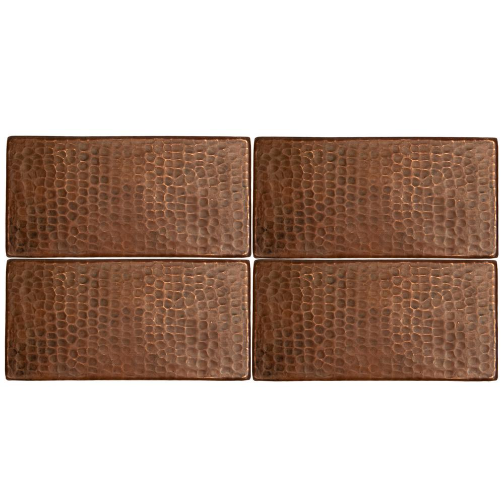 Punded Metal Accent Wall: Premier Copper Products 3 In. X 6 In. Hammered Copper