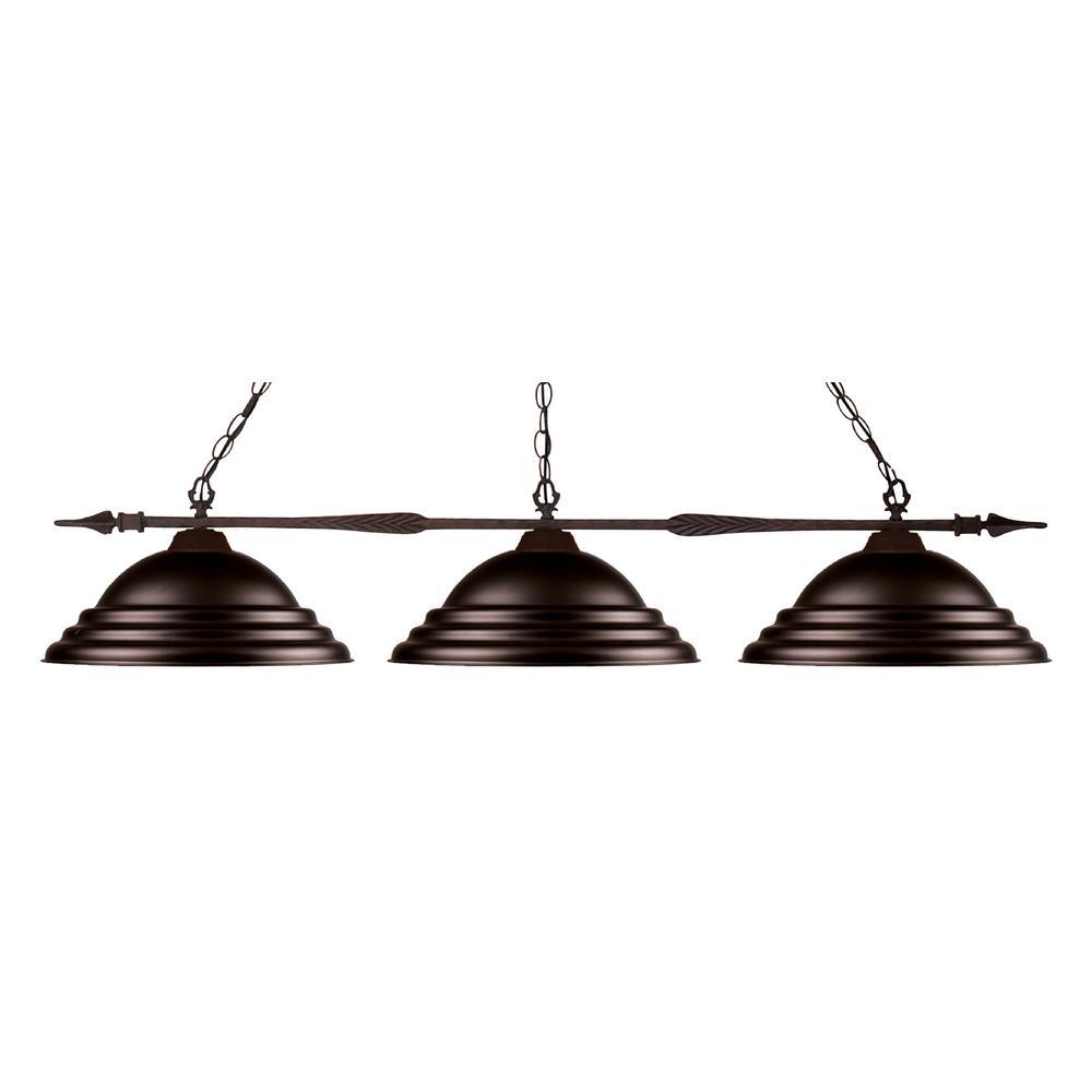Filament Design Elise 3-Light Bronze Billiard Light With