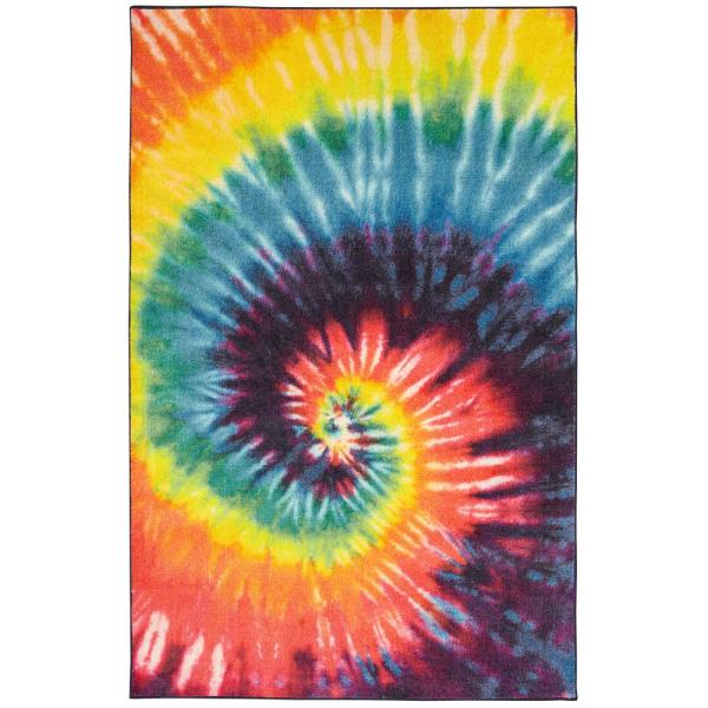 Tie Dye Swirl Rainbow 5 ft. x 8 ft