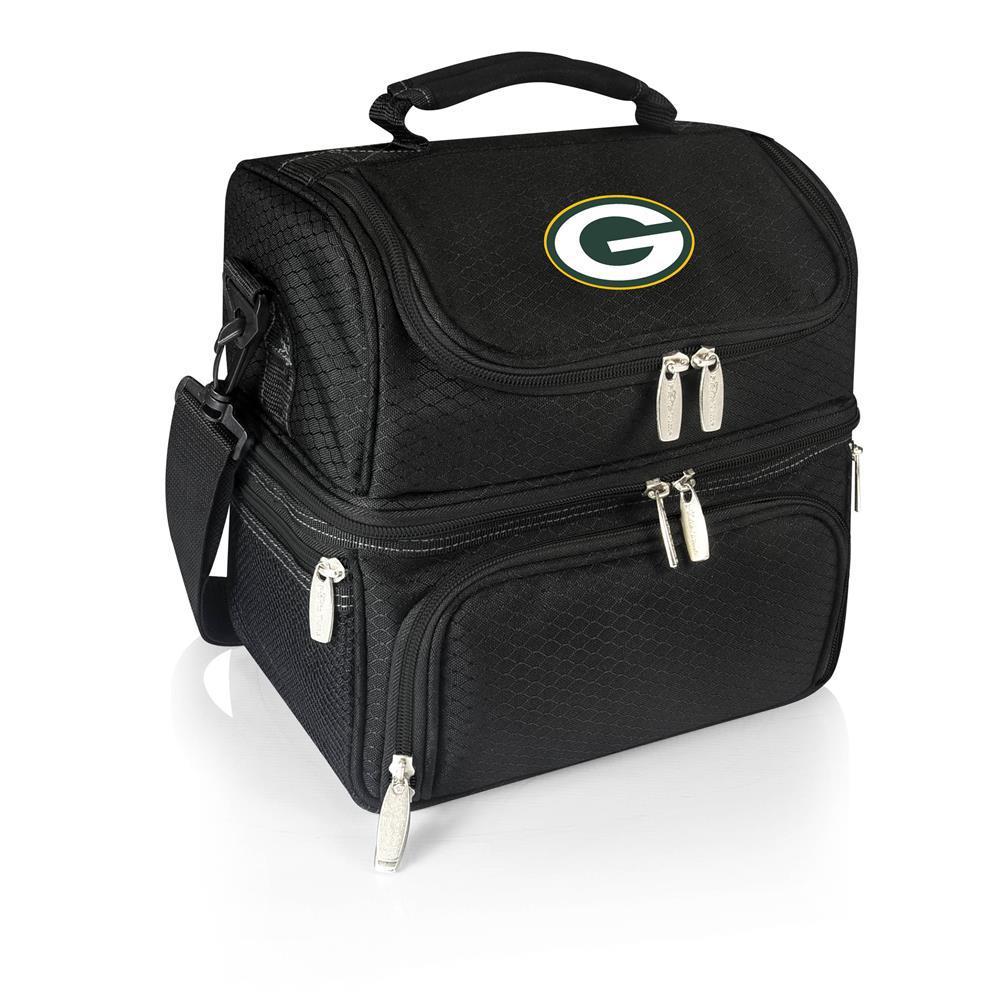 Pranzo Black Green Bay Packers Lunch Bag